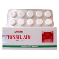 Bakson Tonsil Aid tablets for throat infections-Tonsillitis, Pharyngitis, Sore throat