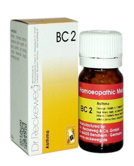 Dr.Reckeweg-Germany Biochemic Combination Tablets BC2 for Asthma