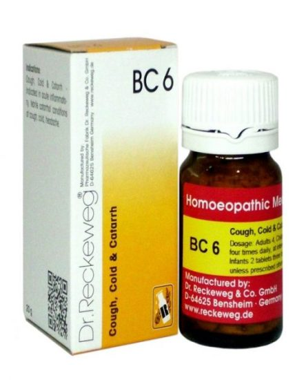 Reckeweg Biocombination Tablets BC 06 for Cough, Cold and Catarrah