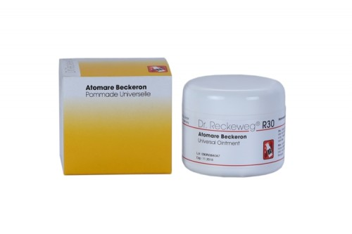 Atomare Beckeron Dr. Reckeweg R30 Universal ointment. Multi purpose cream for rheumatism, boils, sprains, muscle aches, sciatica, Arthritis