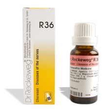 Dr. Reckeweg R36 drops for Diseases of the nerves, chorea, St. Vitus' dance. Homeopathic medicine for nervous disorders, Chorea minor