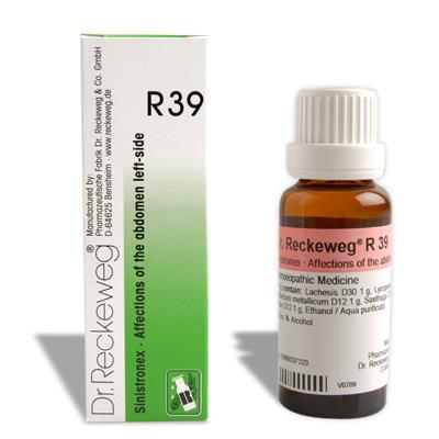 Dr. Reckeweg R39 for Affections of the abdomen, left side, ovarian cysts, Adenexitis, Ovarian cyst, Parametritis