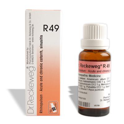 Dr. Reckeweg R49 drops for Acute and chronic catarrh, sinusitis