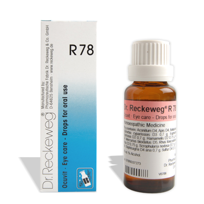 Dr.Reckeweg R78 Eye care Drops for oral administration, homeopathy medicine for cataract, conjunctivitis, blephartis, hordeolum, eye strain, dry eyes etc