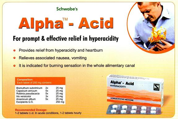 Schwabe Alpha Acid - for hyper acidity