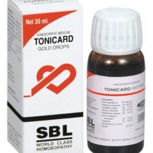 SBL Tonicard Gold drops for palpitation, angina, High BP, impaired blood circulation, weak heart muscles