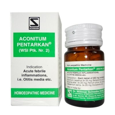 Schwabe Aconitum Pentarkan tablets for symptoms of common cold