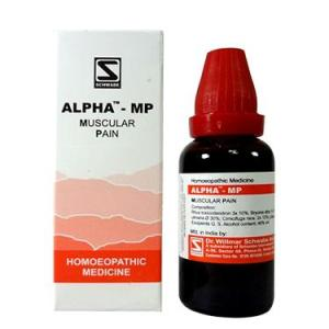Schwabe Alpha-Mp drops for muscular pain, myalgia, sprain, muscle strain