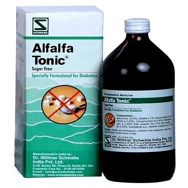 Schwabe Alfalfa Tonic (Sugar free) for diabetics, homeopathy health supplement for calorie conscious