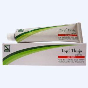 Schwabe Topi Thuja Cream for Warts, Condylomata, Body growths. Human papilloma virus (HPV)