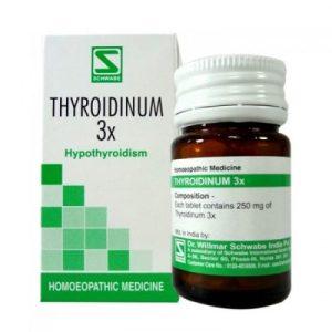 Schwabe Thyroidinum 3X tablets for symptoms of thyroid problem