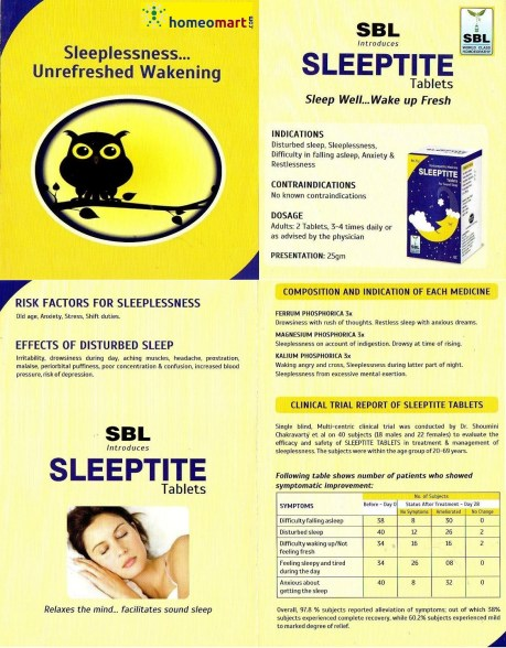 SBL Sleeptite Tablets infographic