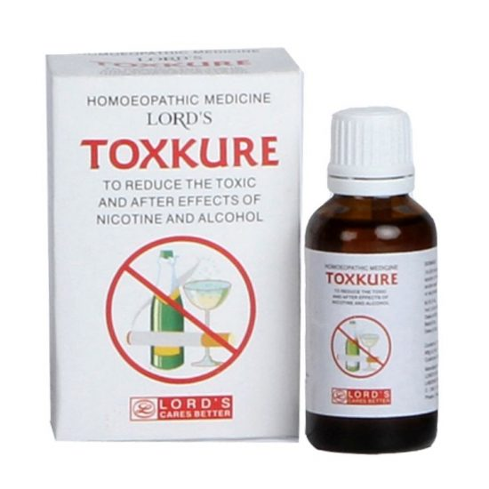 Lords TOXKURE Homeopathic medicine for Smoking cessation, alcoholism, nicotine addiction, alcohol withdrawal symptoms