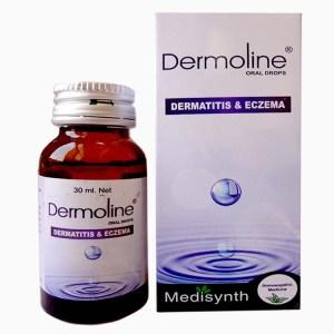Medisynth Dermoline drops for eczema, dermatitis