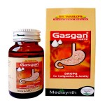 Medisynth Gasgan forte drops for indigestion, Acidity,Flatulence, Dyspepsia, Gastritis