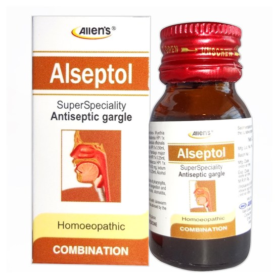 Homeopathic antiseptic Gargle for throat problems
