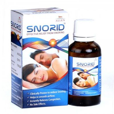 Allen Snorid drops for snore relief, nasal congestion, . Anti snore medicine, snore stopper