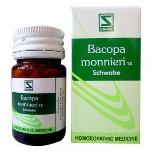 Bacopa Monnieri 1X tablets from Schwabe, Brain, Nervine Tonic for weak memory, anxiety neurosis,