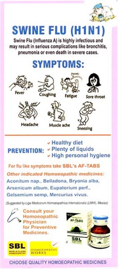SBL Homeopathy AF-TABS for Swine Flu (H1N1)