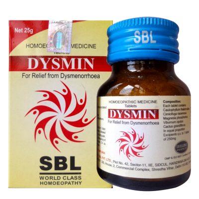 SBL Dysmin Tablets for Dysmenorrhoea or Painful Menstruation