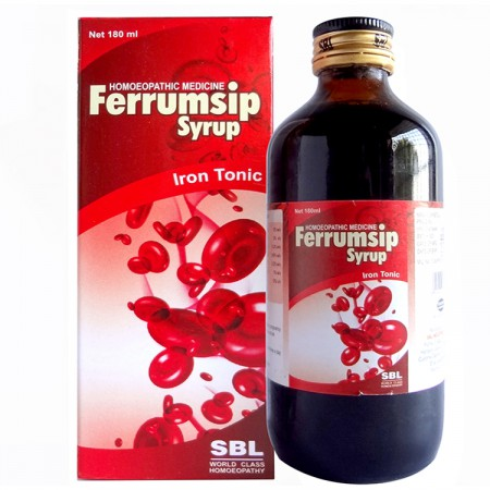 SBL Ferrumsip Syrup Iron Tonic. Homeopathic medicine for Anemia