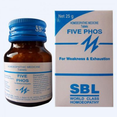SBL Five Phos tablets for Weakness and Exhaustion, essential body Tonic for recovery from illness, chronic fatigue