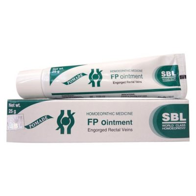 SBL FP Ointment is a Homeopathic remedy for fissures and piles, Engorged rectal veins