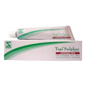 Schwabe Topi Sulphur Cream, antimicrobial cream, antiseptic properties