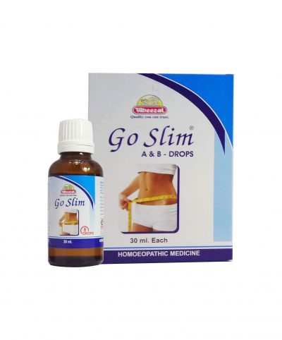 Wheezal Go Slim A and B Drops, homeopathy medicine for weight loss
