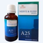 Allen A25 Nerve and Sleep Drops - homeopathy medicine for insomnia, nervous restlessness, anxiety. Medicine for sleep in homeopathy