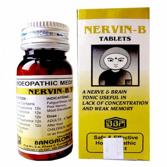 BBP Nervin B Tablets for weak memory, poor concentration