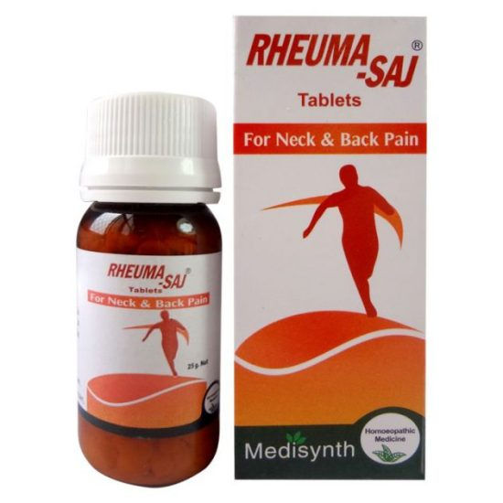 Medisynth RHEUMA-SAJ homeopathic Tablets for neck and back pain