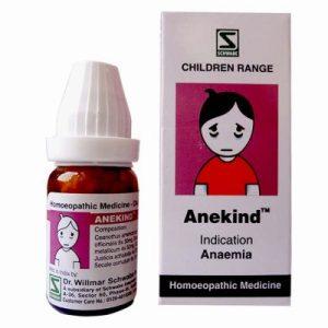 Schwabe Anekind globules for Anemia in children. Homeopathic medicine