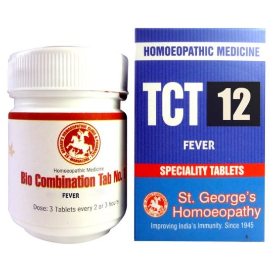 St George TCT 12 Homeopathic Tissue Complex Tablets for Fever