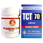 St George TCT 70 Homeopathic Tissue Complex Tablets for Coryza