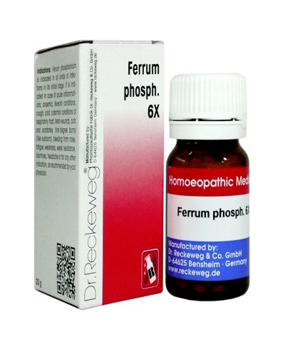 Dr.Reckeweg Biochemic Tablet Ferrum Phosphoricum 6x for Anemia, Feverish conditionsWeakness, Weak resistance, acute inflammations