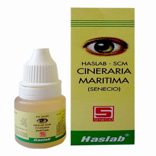 Haslab Cineraria Maritima senecio drops for conjunctivitis, cataract, weak eye sight, over stained eyes, corneal opacity