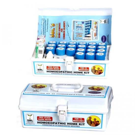 SBL Homeopathic Home Kit, First Aid remedies for Acidity, Acne, Bruises, Burns, Colic (Pain), Common cold , Constipation, Cough, Cuts, Diarrhea (loose motions), Ear ache
