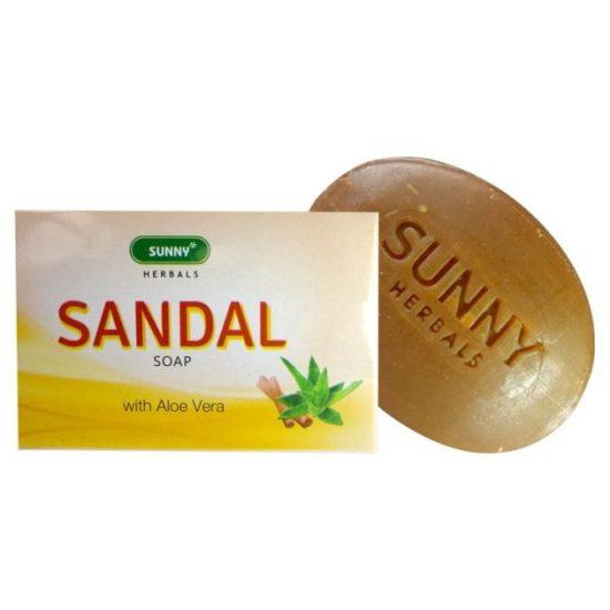 Bakson Sunny Herbals Sandal soap with Aloevera, 75gms
