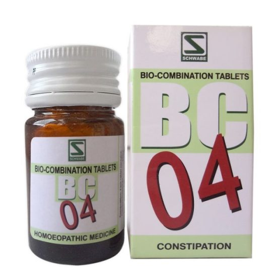 Schwabe Biocombination BC4 Tablets for Constipation, irregular bowel movements