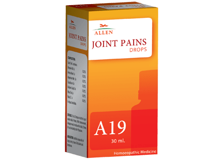 Allen A19 Homeopathy Drops for Joints Pains, hip joint pain, Rheumatoid Arthritis