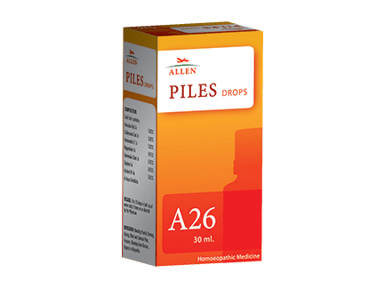 Allen A26 Homeopathy Drops for Piles, fissures, Hemorrhoids