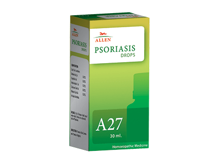 Allen A27 Homeopathy Drops for Psoriasis, Eczema, Scaly Skin