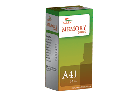 Allen A41 Homeopathy Memory Drops for Improving Brain Performance