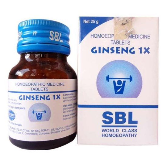 SBL Ginseng 1X Tablets for immunity, sexual wellness, stress and mental agility