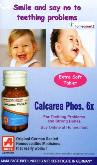 Adel Calcarea Phos 3x for teething problems and strong bones in infants and children. German homeopathic medicine