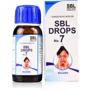 SBL Drops No 7 Homeopathy medicine for Sinusitis, nose block, coryza, post nasal discharge