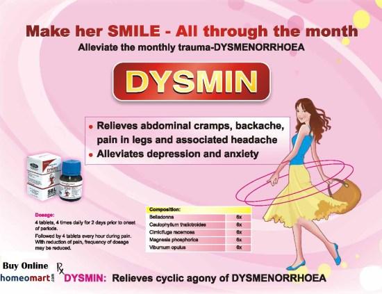 SBL Dysmin Tablets for dysmenorrhoea, painful menstruation