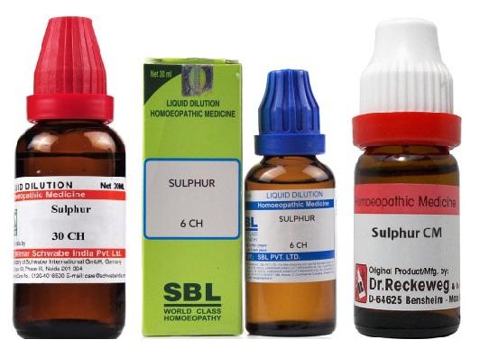 Sulphur 6C/30C/200C/1000C/10M/50M/CM Dilution, Reckeweg, Sbl, Schwabe