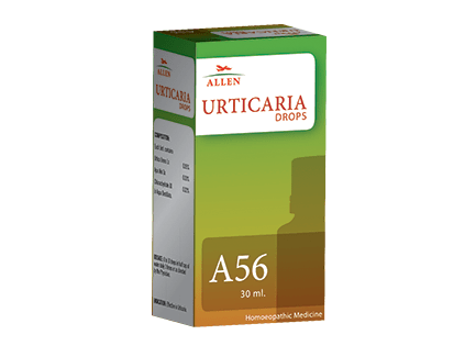 Buy Allen A56 Drops for effective Urticaria treatment in Homeopathy